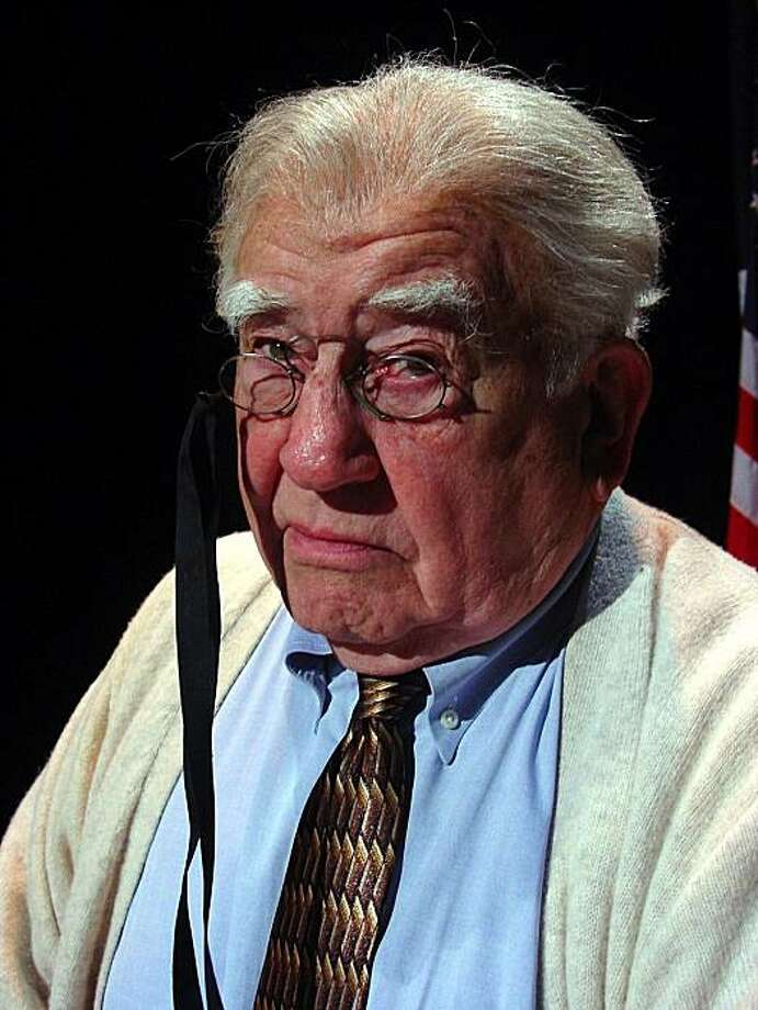 "Ed Asner portrays Franklin Delano Roosevelt in the solo drama ""FDR"" Photo: Courtesy Of The Theatre Guild"
