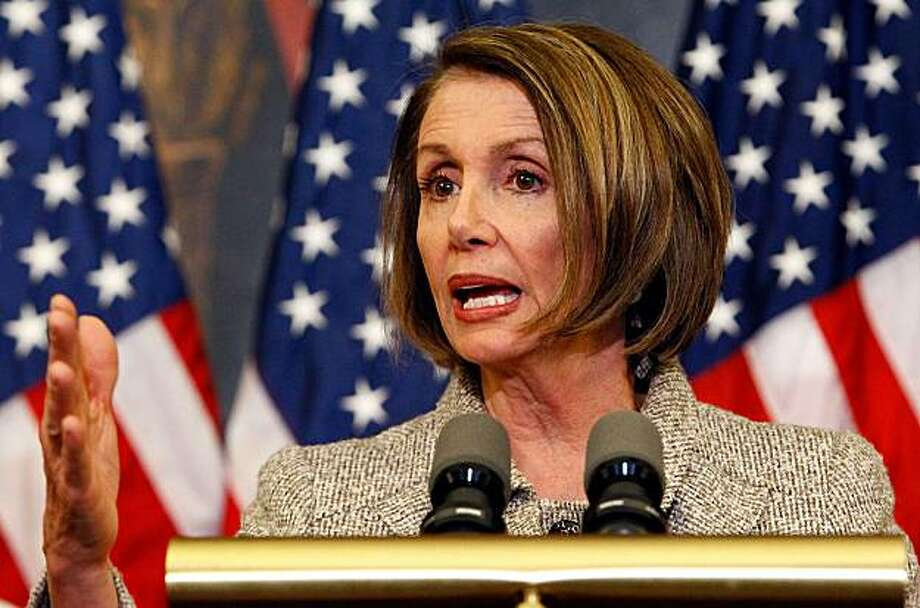 WASHINGTON - MARCH 18:  U.S. Speaker of the House Nancy Pelosi (D-CA) speaks at an event highlighting health care reform at the U.S. Capitol March 18, 2010 in Washington, DC. As U.S. President Barack Obama delayed a planned trip to Asia, the CongressionalBudget Office released figures projecting significant savings as a result of the proposed health care legislation which members of the House of Representatives could vote on as early as Sunday. Photo: Chip Somodevilla, Getty Images