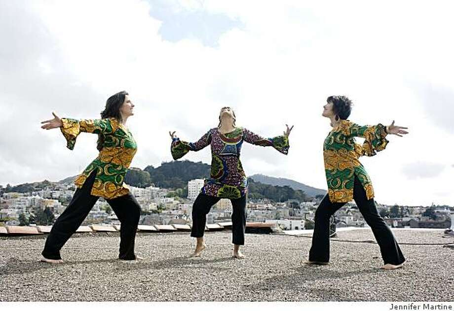 "From left: Dancers Farida Jhabvala, Joti Singh and Susan Hanley, who perform in ""Dhoom Dhamaka!"" Photo: Jennifer Martine"
