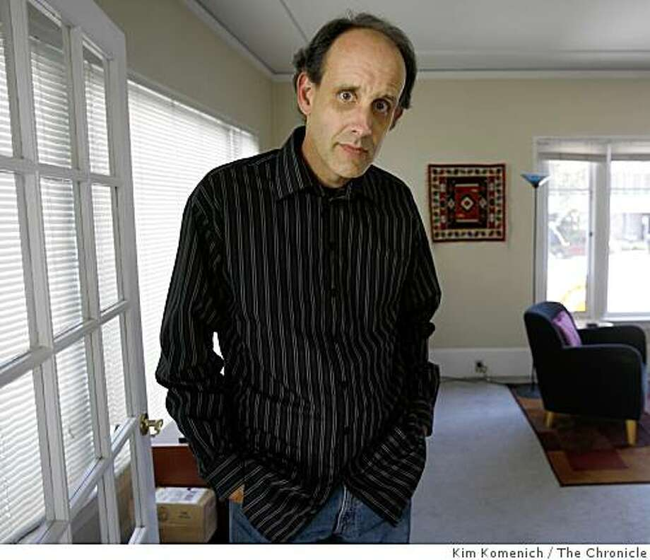 Ross Turner, 47, an Oakland graphic designer, was turned down for a credit card earlier this summer by Redwood Credit Union, where he had been a customer for 14 years. Redwood told him he had too much debt for his income, even though he had no outstanding loan balances and earned about $86,000 last year. He is photographed in his Oakland,Calif., home on Sept. 3, 2008. Photo: Kim Komenich, The Chronicle