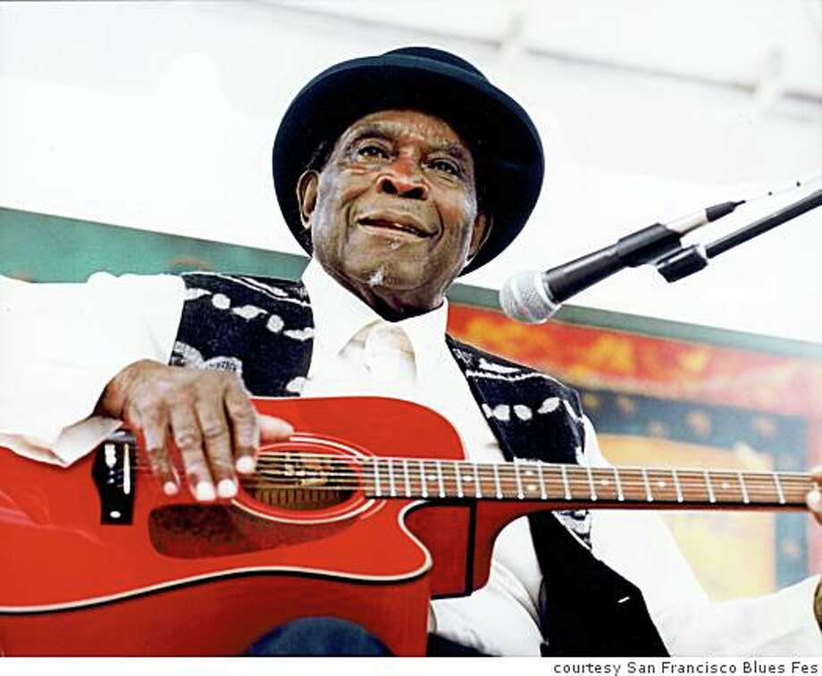 93-year-old Misssissippi Delta bluesman Honeyboy Edwards performs at the 36th annual San Francisco Blues Festival Sept. 28 at Fort Mason's Great Meadow. Photo: Courtesy San Francisco Blues Fes