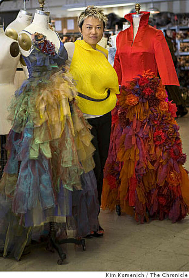 """Han Feng designed the costumes for the San Francisco Opera's upcoming """"The Bonesetter's Daughter"""", based on the Amy Tan novel. A New York resident, Han Feng  visits the opera's costume department in San Francisco, Calif., on Tuesday, Aug. 5, 2008. Photo: Kim Komenich, The Chronicle"""