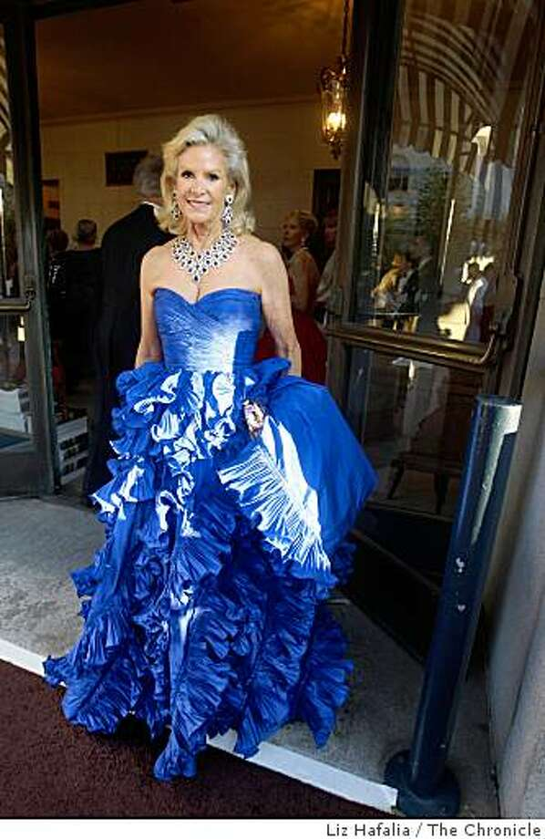 Dede Wilsey  wears Oscar de la Renta at the cocktail reception of the opening of the SF Opera in San Francisco, Calif.,  on Friday, September 5, 2008. Photo: Liz Hafalia, The Chronicle