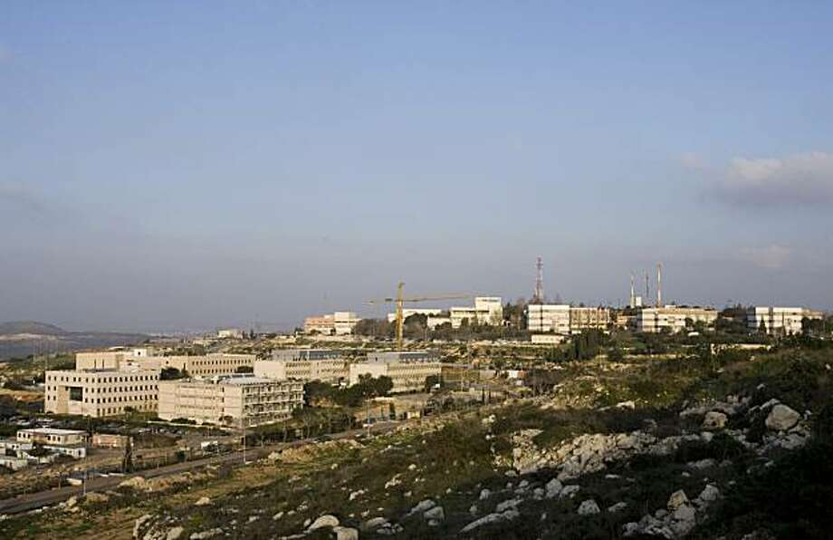 "** FOR RELEASE SUNDAY, MARCH 7, AND THEREAFTER ** In this photo taken Tuesday, Feb. 2, 2010, the Ariel college is seen in the West Bank Jewish settlement of Ariel. The planned upgrade of the college, which already calls itself a ""university center,"" with8,700 full-time and 2,500 part-time students, is perhaps the most controversial in Israel. Photo: Moti Milrod, AP"