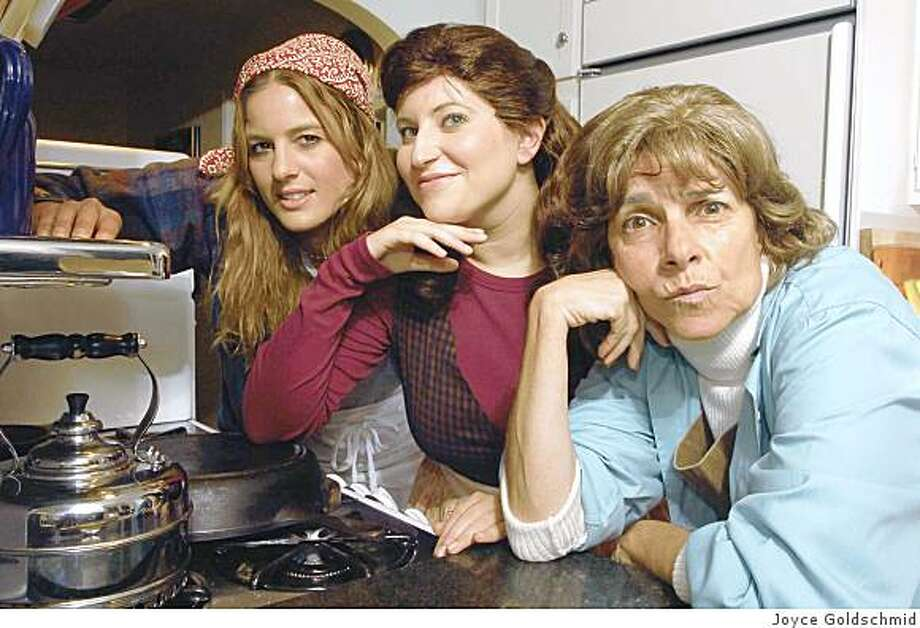 "(From left) Percy (Sarah B. Griner), Shelby (Molly Mermelstein) and Hannah (Mary Gibbony), find a new lease on life while working together at the local grill in Palo Alto Players' production of the musical ""The Spitfire Grill,"" Sept. 12-28 at the Lucie Stern Theater in Palo Alto Photo: Joyce Goldschmid"
