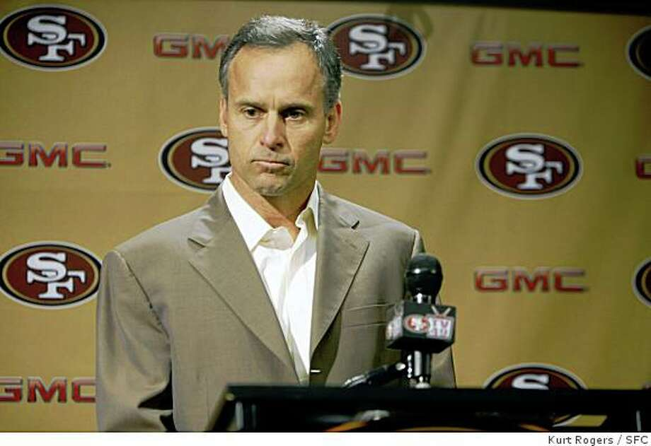 Coach Mike Nolan.The San Francisco 49ERS held a press conference to announce that Scott McCloughan  is becoming the General Manager of the team . Coach Mike Nolan will remain the head coach.49ERS_0031_KR.jpgKurt Rogers / The ChroniclePhoto taken on 1/2/08, in Santa Clara, CA, USA Photo: Kurt Rogers, SFC