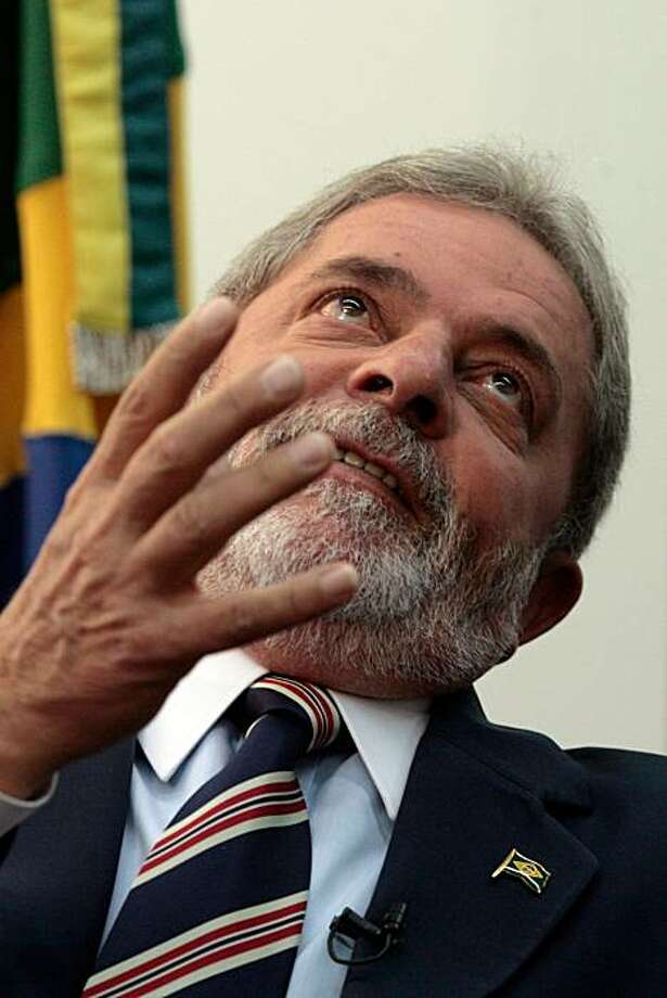 Brazil's President Luiz Inacio Lula da Silva, gestures during an interview with The Associated Press, in Brasilia, Tuesday, March 9, 2010. Lula da Silva warned that U.S.-proposed sanctions against Iran over its nuclear program could lead to war in the Middle East. Photo: Eraldo Peres, AP
