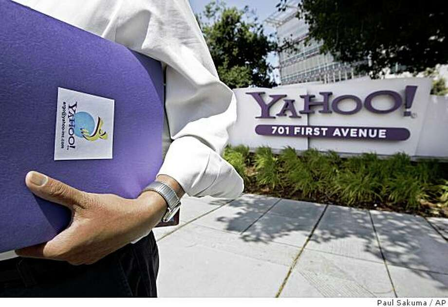 Yahoo Inc.?s stock sunk sank to its lowest level in nearly five years Thursday, magnifying the challenge facing the Internet company as its management tries to justify their rebuff of Microsoft Corp.?s $47.5?billion takeover bid.Yahoo Inc. is trying to �white?wash embarrassing documents� from an investor lawsuit that ac?cuses the Sunnyvale Web portal of improperly rejecting a takeover bid by Microsoft Corp., an attor?ney representing two Detroit pen?sion funds complained Friday. Photo: Paul Sakuma, AP