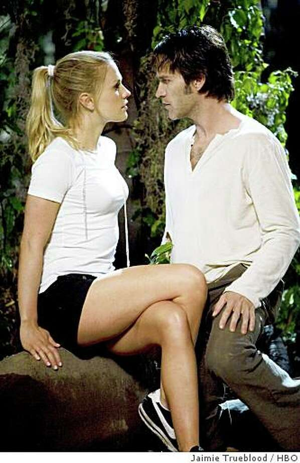 Here's a look at 'True Blood' co-stars (and real-life lovers) Anna Paquin and Stephen Moyer. Photo: Jaimie Trueblood, HBO