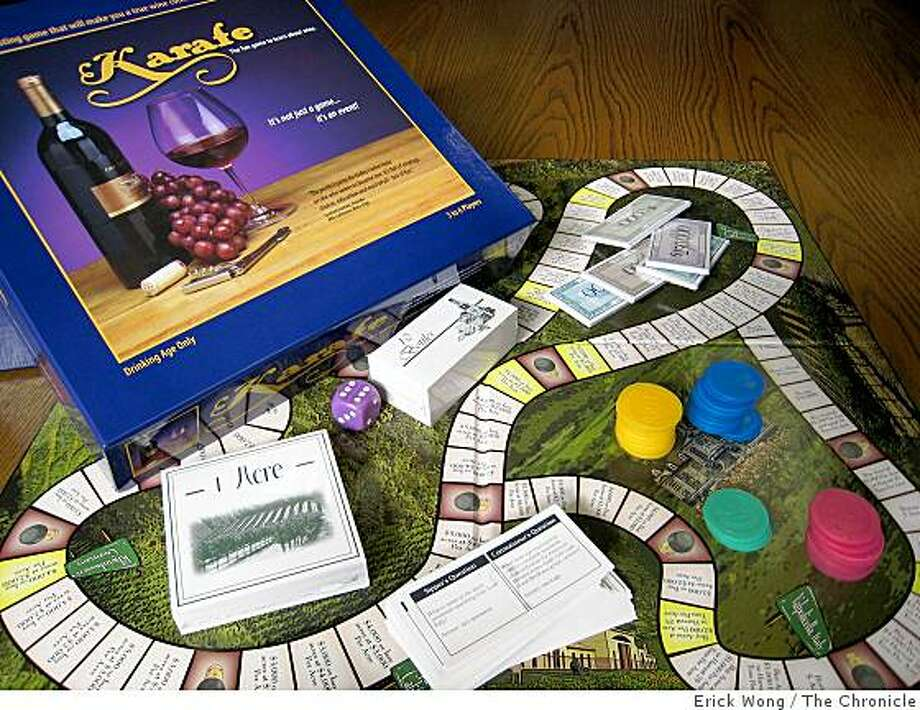 Karafe eases players into the world of wine while requiring Monopoly-like strategy to win. Photo: Erick Wong, The Chronicle