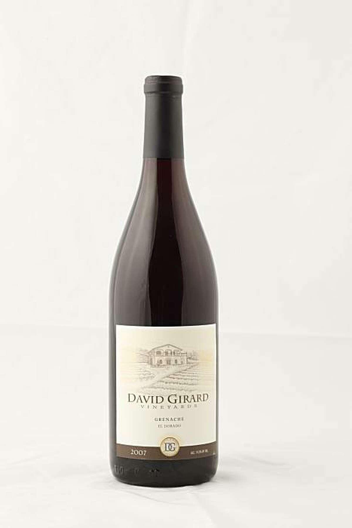 2007 David Girard Vineyards Grenache El Dorado in San Francisco, Calif., on March 10, 2010.