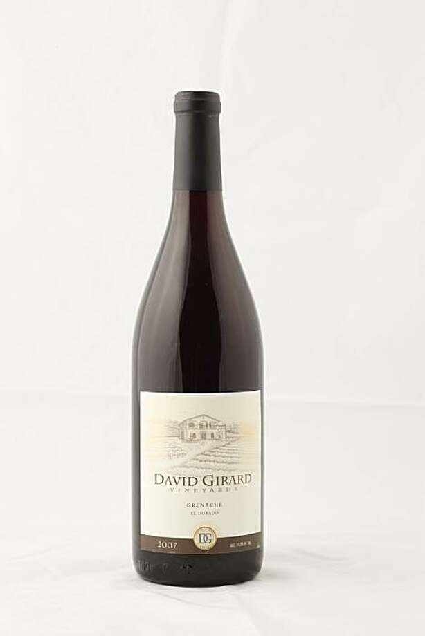 2007 David Girard Vineyards Grenache El Dorado in San Francisco, Calif., on March 10, 2010. Photo: Craig Lee, Special To The Chronicle