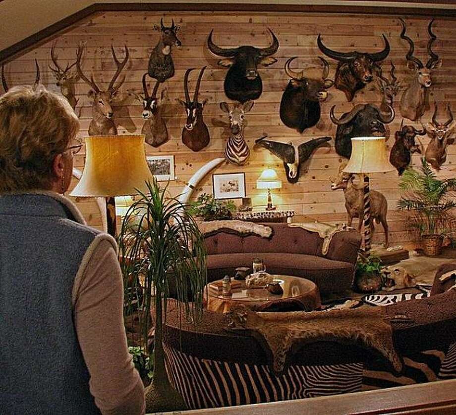 The trophy room at Reno's Wilbur May museum elicits varying responses from visitors. Photo: Mark S. Bacon, Special To The Chronicle