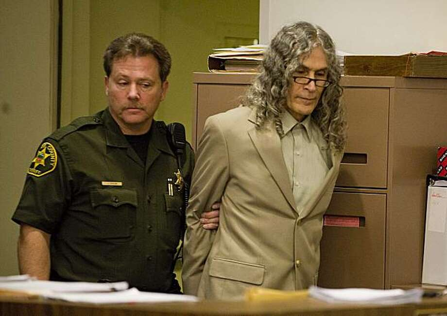 Convicted serial killer Rodney James Alcala, right, is escorted into the courtroom after jury deliberations during the penalty phase of his trial at the Central Justice Center in Santa Ana, Calif. on Tuesday, March 9, 2010. Jurors took just an hour to return the death recommendation after a six-week trial. Photo: Sam Gangwer, AP