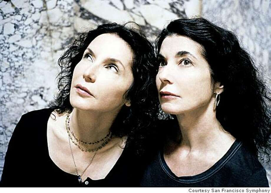 Duo pianists Katia and Marielle Lab�que Photo: Courtesy San Francisco Symphony