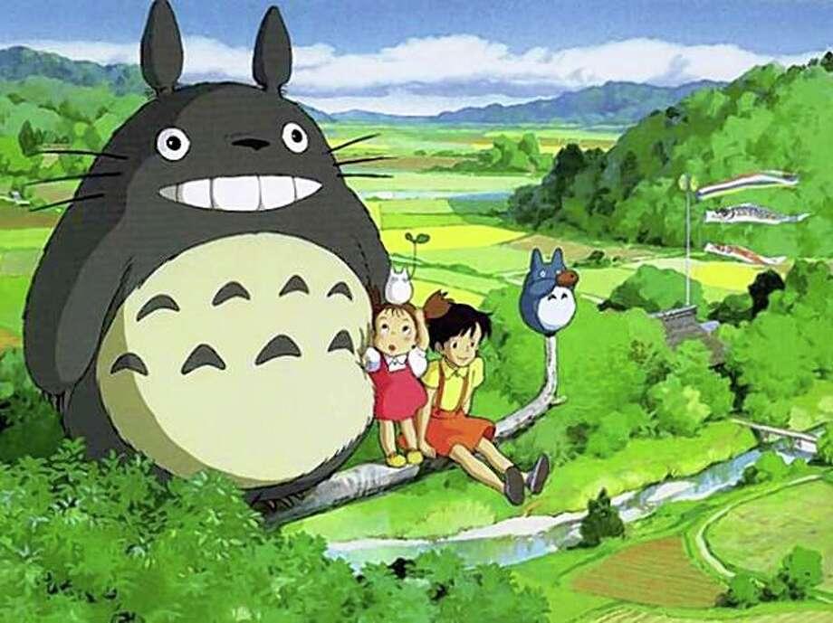 """Image from """"My Neighbor Totoro."""" Photo: C 1988 Nibariki - G"""