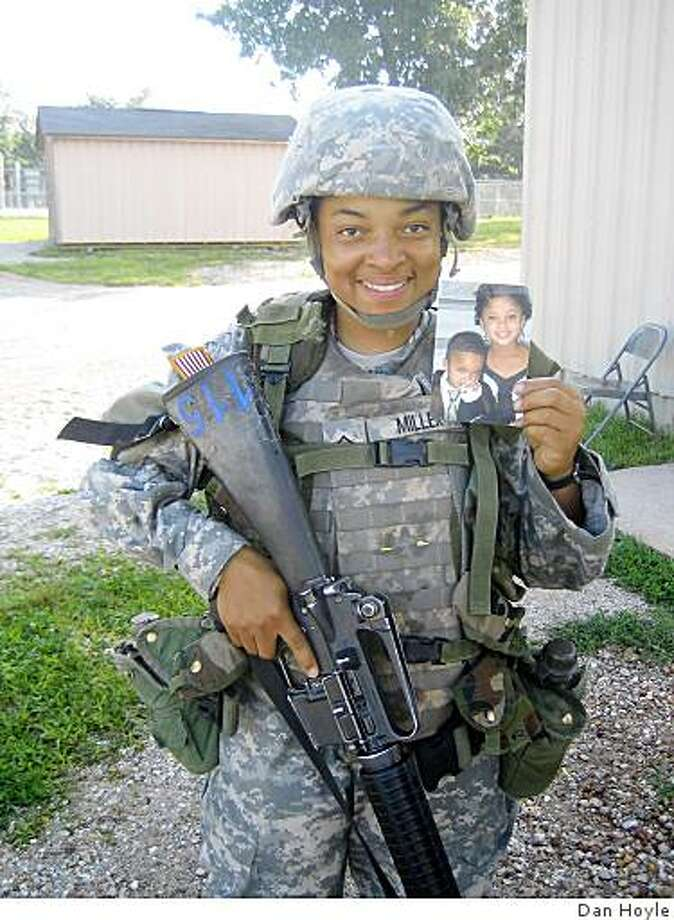 """""""I'm fighting for my kids as well as my country,"""" says Pfc. Candice Miller, 29, of Hackensack, N.J. Photo: Dan Hoyle"""