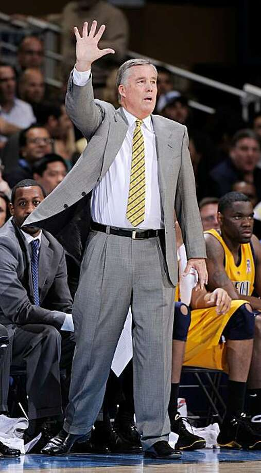 Mike Montgomery coach of the University of California Golden Bears yells instructions from the bench during the first half of the game against UCLA Bruins at Pauley Pavilion on January 29, 2009 in Westwood, California. UCLA won, 81-66. Photo: Kevork Djansezian, Getty Images