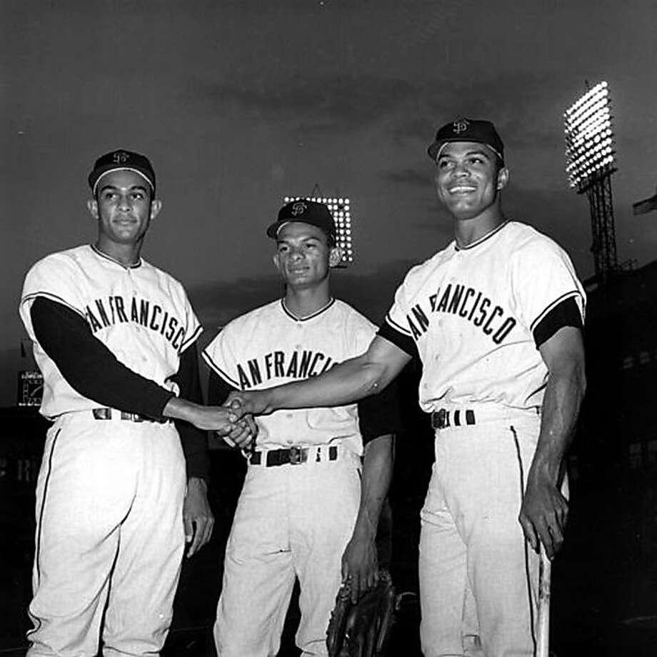 From left, Jesus, Matty and Felipe Alou. 1963 Photo: Courtesy Spike TV