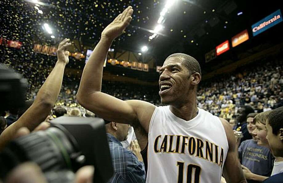 Jamal Boykins of Cal celebrates after their win over Arizona State at Haas Pavilion in Berkeley on Saturday. Photo: John Storey, Special To The Chronicle