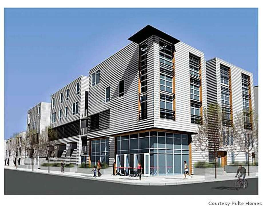 Computer-generated drawing of the Glashaus at 645th and Hollis in Emeryville. 145 condos, studio, one and twobedrooms, for prices from $344,900 to $484,900. Photo: Courtesy Pulte Homes