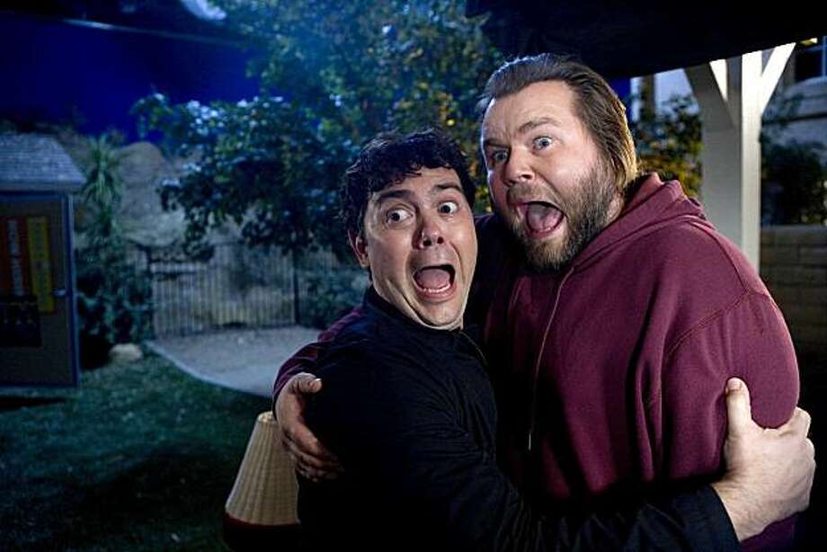"SONS OF TUCSON: A string of local burglaries have the neighborhood on edge SONS OF TUCSON episode ""The Break-In"" airing Sunday, March 21 (9:30-10:00 PM ET/PT) on FOX. Pictured: Guest Star Joe LoTruglio (L) and Tyler Labine (R). Photo: Patrick Wymore, FOX"