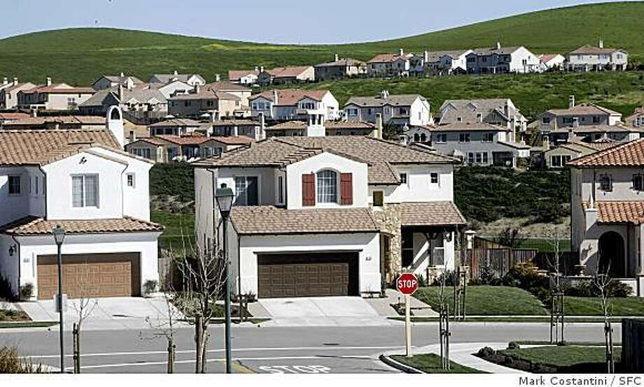 The small suburb of San Ramon is seeing more growth, including housing developments like this, with Chevron's corporate headquarters in town. Photo: Mark Costantini, SFC