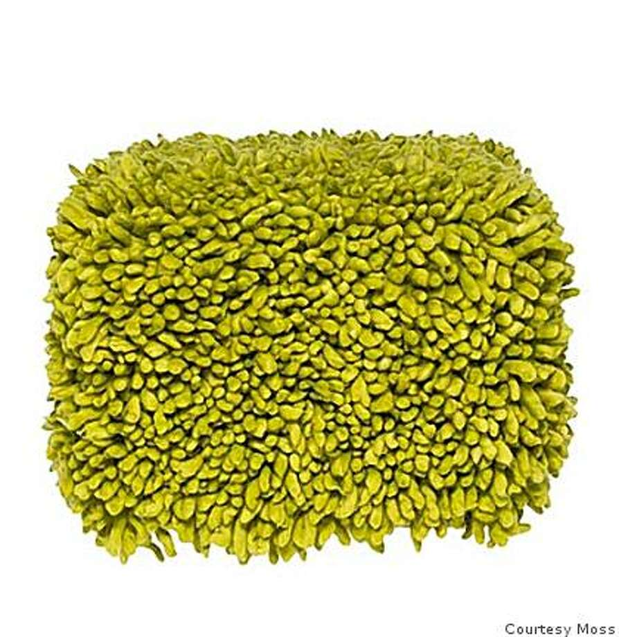 Green Smile Pouf by Moss Photo: Courtesy Moss