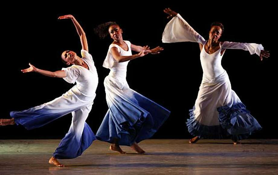"Cal Performances presents Alvin Ailey American Dance Theater's production of ""Dancing Spirit,"" choreographed by  Ronald K. Brown at Zellerbach Hall at the University of California at Berkeley campus on Tuesday, March 9, 2010. Photo: Carlos Avila Gonzalez, The Chronicle"