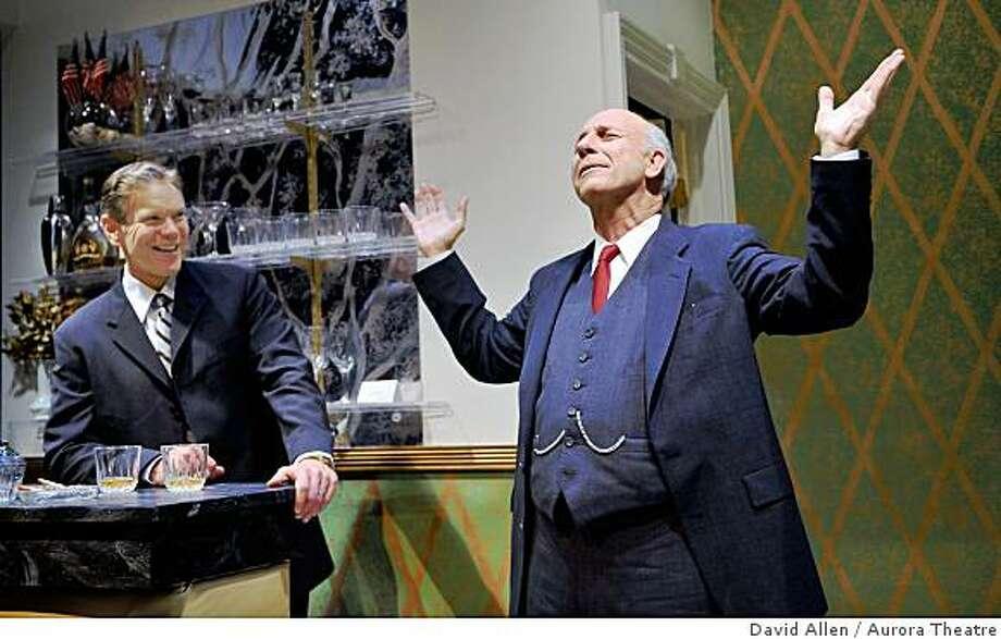"The Best Man, Aurora TheatreCampaign follies: Secretary Russell (Charles Shaw Robinson) and President Hockstader (Charles Dean) reminisce in ""The Best Man."" Photo: David Allen, Aurora Theatre"