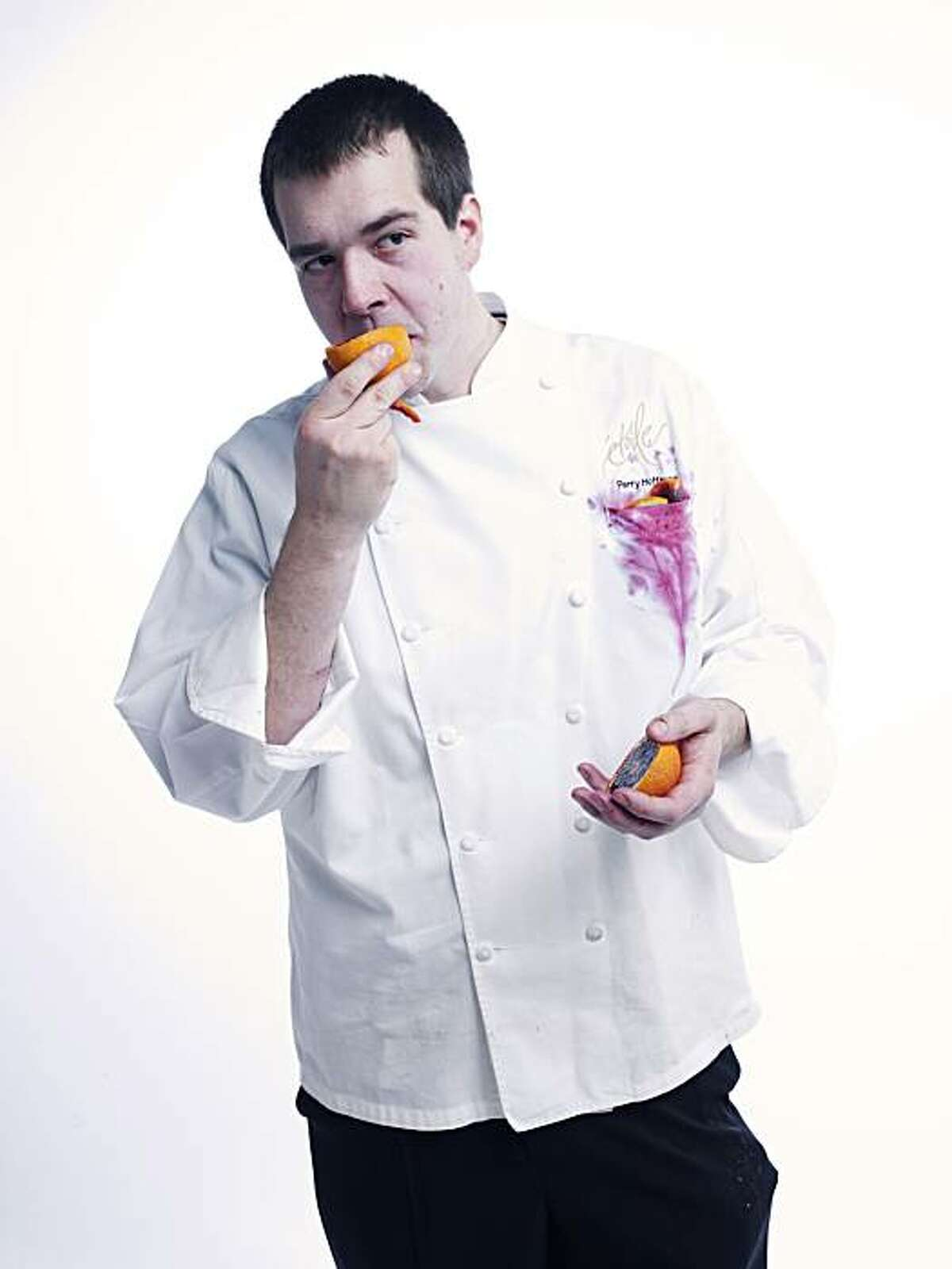 RISINGSTARS_HOFFMAN07_JOHNLEEPICTURES.JPG Perry Hoffman, chef at Etoile in Yountville. Photo taken in the Chronicle photo studio. By JOHN LEE/SPECIAL TO THE CHRONICLE