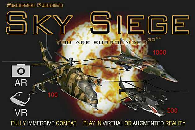 screenshot of Sky Siege game by Simbiotics Photo: Courtesy, Symbiotics
