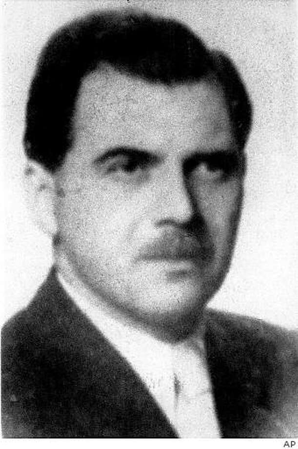 ** FILE ** This file picture of 1956 shows the WWII war criminal Josef Mengele. The Israeli agents who kidnapped Nazi mastermind Adolf Eichmann from Argentina in 1960 knowingly let the notorious death camp doctor Josef Mengele get away, one of the operatives said Tuesday, Sept. 2, 2008. Eichmann played a key role in planning the mass murder of Jews during World War II and was hanged in Israel. Mengele was an infamous Nazi doctor at the Auschwitz death camp who carried out horrific medical experiments on prisoners. He was never captured and died in 1979.  (AP Photo, file) Photo: AP