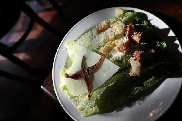 TASTE - The Caesar Salad at Piatti in The Alamo Quarry Market in San Antonio on Wednesday, Feb. 8, 2012. Lisa Krantz/San Antonio Express-News Photo: Lisa Krantz, San Antonio Express-News / @2012 SAN ANTONIO EXPRESS-NEWS