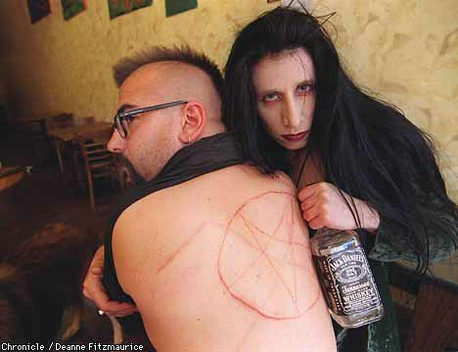 "Think you can't mix lust, politics, religion and ethnicity on stage? Try this: Steven Leyba, Church of Satan priest with a pentagram carved into his back, bent over in front of city luminaries in 1997 as he was first urinated upon by a woman dressed like Pocahontas - and then sodomized with a whiskey bottle by the same faux Indian princess.Leyba said his act was a metaphor for how alcohol was forced upon Native Americans. Political consultant Jack Davis, whose pals booked Leyba's performance as the centerpiece of his 50th birthday party, eventually called it going too ""far."" Sheriff Michael Hennessey, among the attending bigwigs who also included District Attorney Terence Hallinan and Board of Supervisors President Barbara Kaufman, called it ""disgusting."""