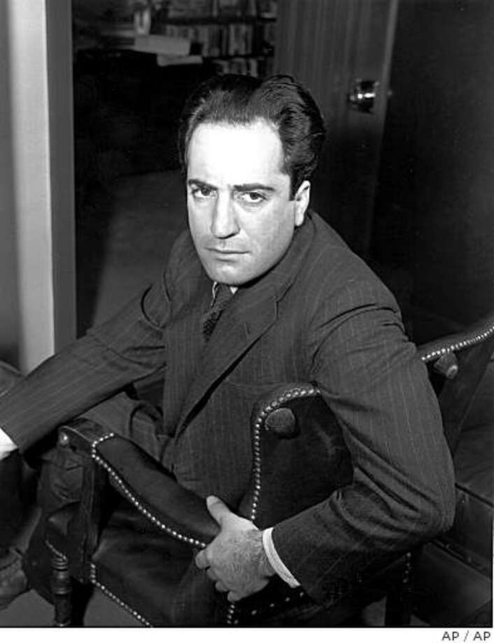 FILE--Writer William Saroyan poses in this May 2, 1941 file photo. The ashes of Saroyan were laid to rest 20 years after his death, in Fresno, Calif., March 3, 2002.  Half of Saroyan's ashes were sent to Armenia after he died at age 72 May 18, 1981, and the other half had been sitting in obscurity on a Fresno chapel's shelf. (AP Photo/File) Photo: AP
