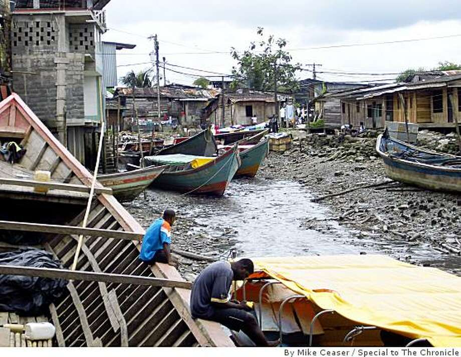 Many Buenaventura fishermen remain idle, battered by soaring fuel prices, declining fish stocks and competition from foreign ships. Photo: By Mike Ceaser, Special To The Chronicle
