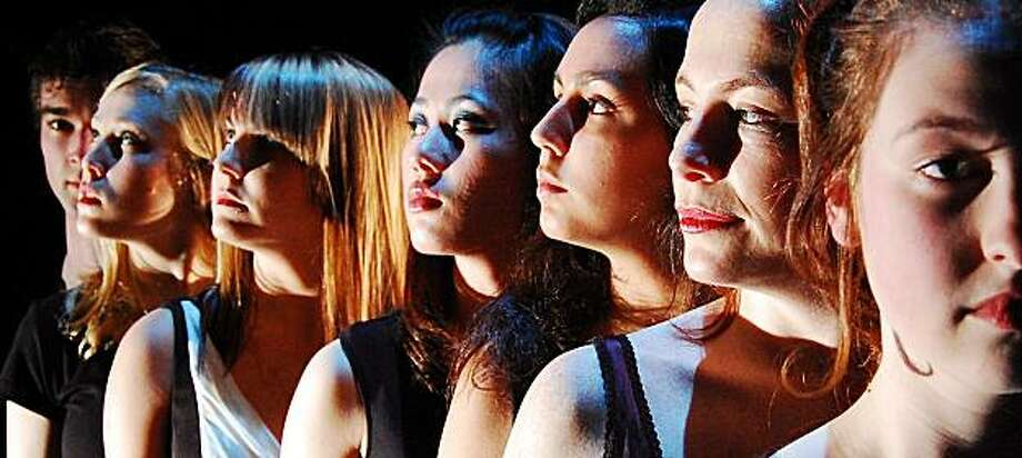 1) Juliet3_March10.jpg: Caption: From left: Dara Yazdani, Megan Trout, Meredith Mitchell, Mai Kou Vang, Arisa Bega, Charlotte Gulezian and Franny Morrison Photo credit: Claire Rice Photo: Claire Rice