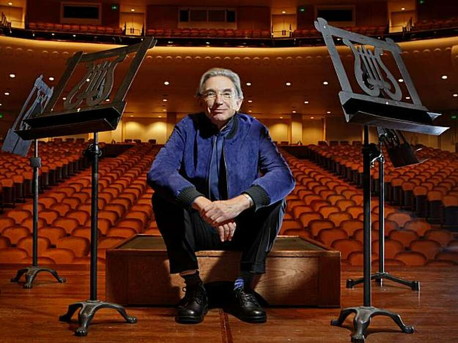 San Francisco Symphony's conductor Michael Tilson Thomas poses of photographs, Thursday October 1, 2009, in Davies Symphony Hall, San Francisco, Calif. Photo: Lacy Atkins, The Chronicle
