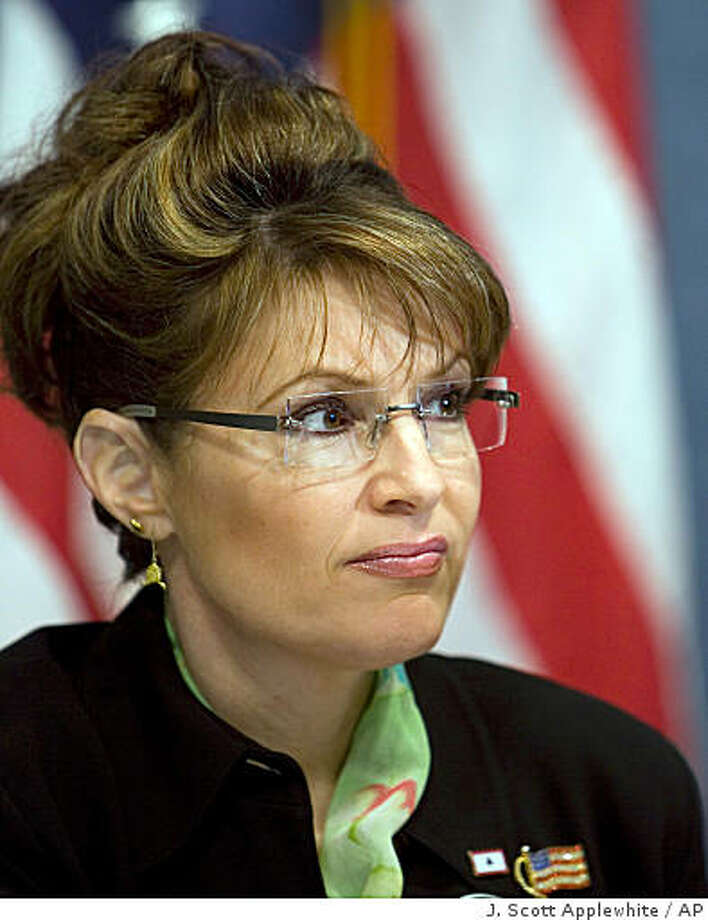 **FILE** In this Feb. 26, 2008 file photo, Alaska Gov. Sarah Palin speaks on behalf of victims of the Exxon Valdez oil spill and their supporters at a news conference at the National Press Club in Washington. Photo: J. Scott Applewhite, AP