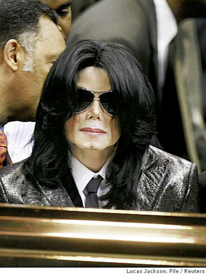 Pop star Michael Jackson attends the funeral of singer James Brown in Augusta in this December 30, 2006 file photograph. Jackson turns 50 on August 29, 2008. Photo: Lucas Jackson, File, Reuters