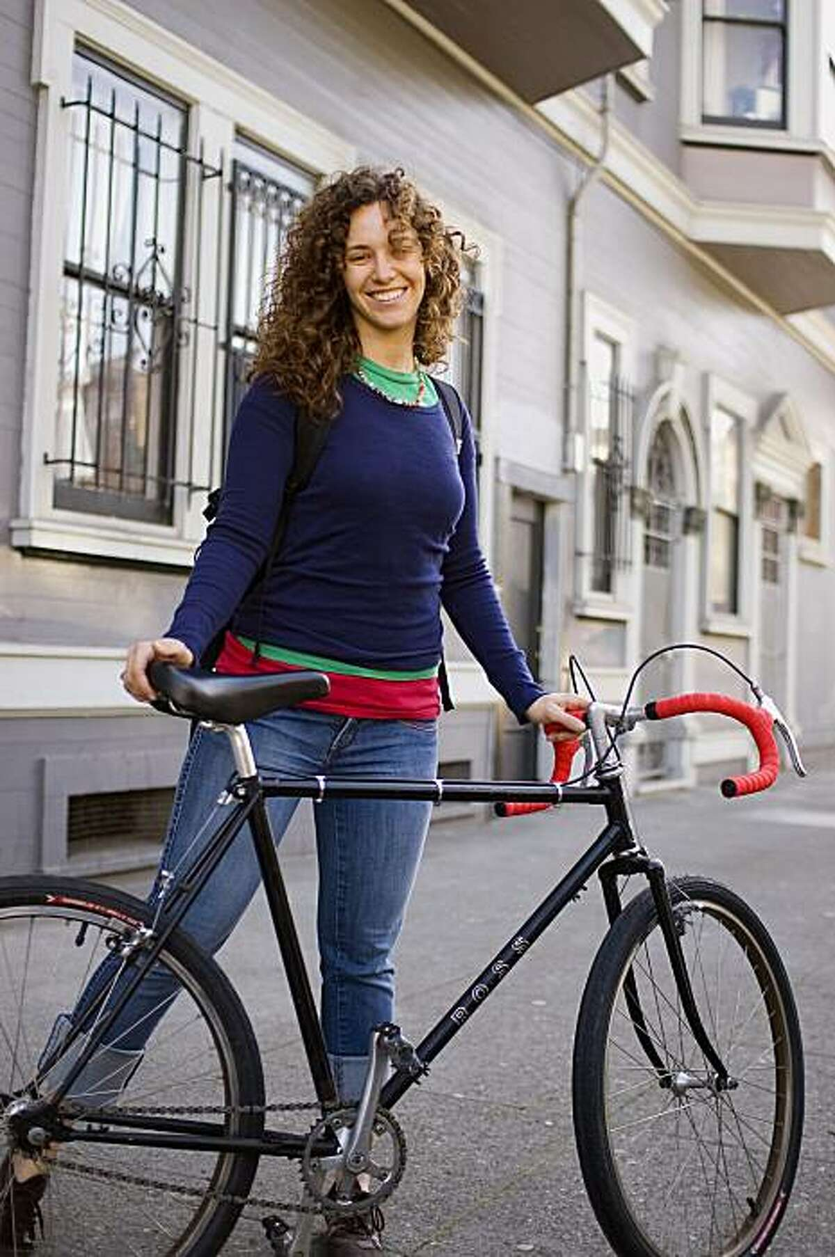 Jessica Collier is among a growing number of women choosing to commute by bicycle.