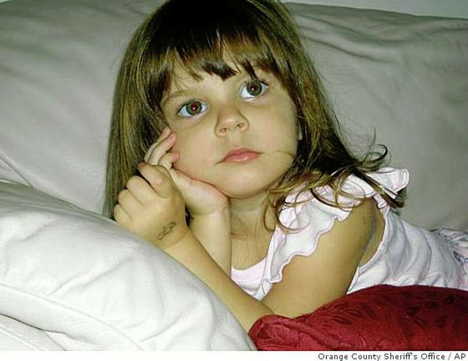 **FILE** This undated photo released by the Orange County Sheriff's Office in Orlando, Fla. on Friday, July 18, 2008, shows Caylee Marie Anthony , 2, who has been missing since June. Casey Anthony, mother of Caylee, was released from jail on $500,000 bail Thursday, Aug. 21, 2008,  and returned to her parents' home, where authorities will monitor her with an electronic ankle device.  (AP Photo/Orange County Sheriff's Office, File) Photo: Orange County Sheriff's Office, AP