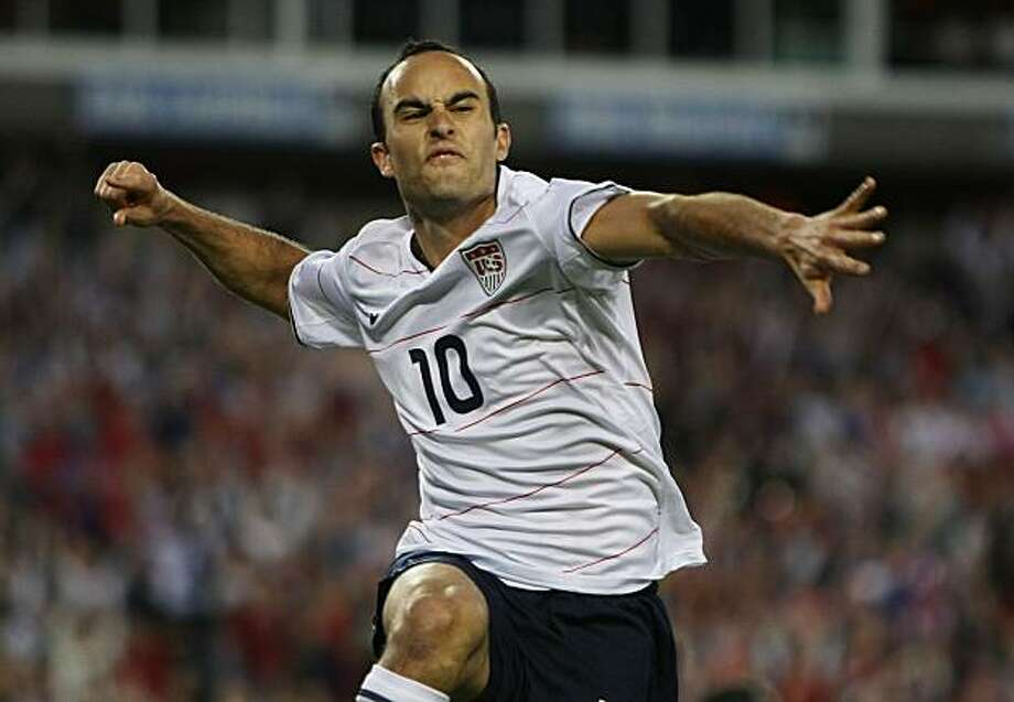 NASHVILLE - APRIL 01: Landon Donovan #10 of the U.S. celebrates an assist on a goal by teammate Jozy Altidore in action against Trinidad and Tobago during a FIFA 2010 World Cup Qualifying match on April 1, 2009 at LP Field in Nashville, Tennessee. (Photo by Jonathan Daniel/Getty Images) Photo: Jonathan Daniel, Getty Images