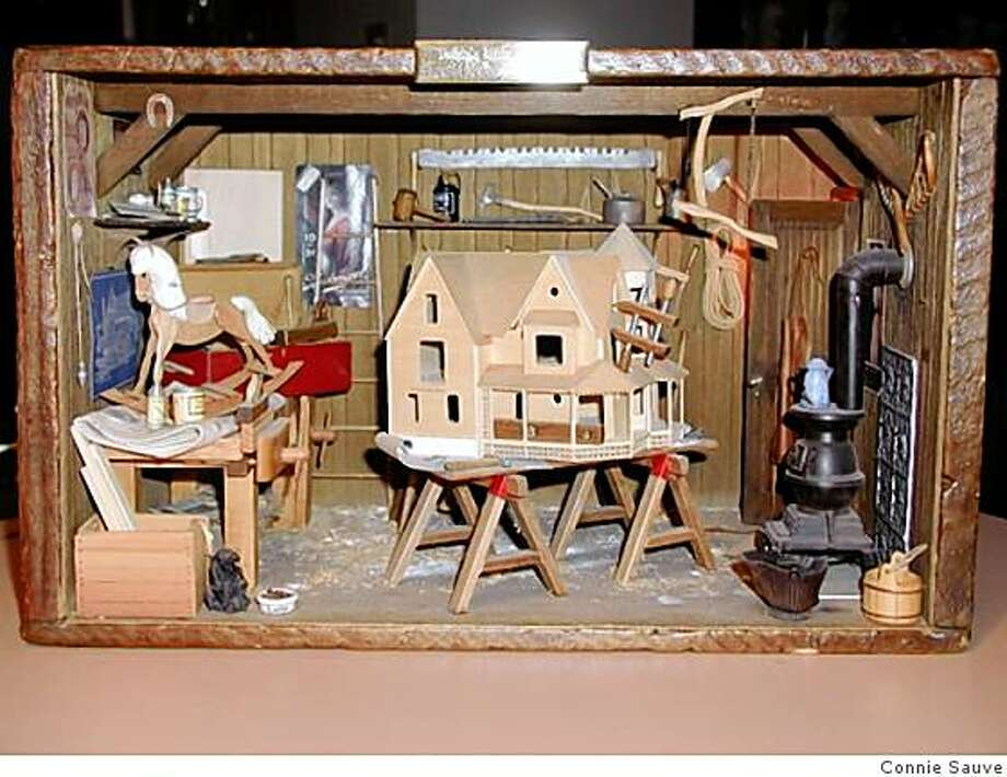 Daddy's Little Workshop miniature by Connie Sauve is a tribute to her fatherCorrect title Photo: Connie Sauve