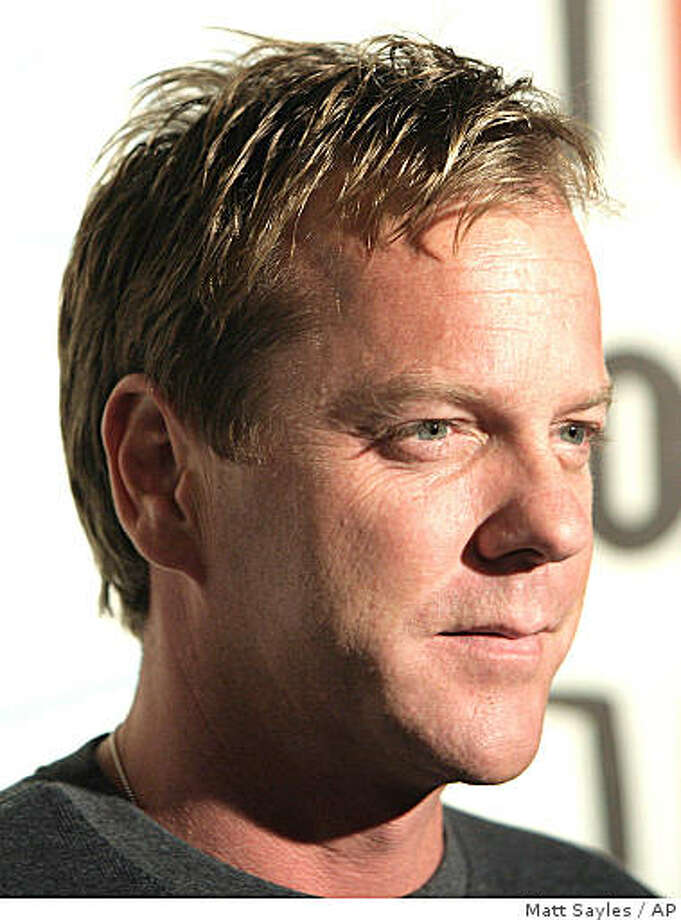 ** FILE ** In this  Sept. 24, 2007 file photo, actor Kiefer Sutherland arrives at the Fox Fall Eco-Casino party in Los Angeles.  (AP Photo/Matt Sayles, file) Photo: Matt Sayles, AP