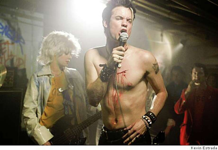"Shane West (right) as frontman Darby Crash and Bijou Phillips as Lorna Doom in Rodger Grossman's  ""What We Do Is Secret,"" a biopic about Crash and his 70s punk band the Germs, opening Friday August 8. Photo: Http://www.whatwedoissecretthemo"
