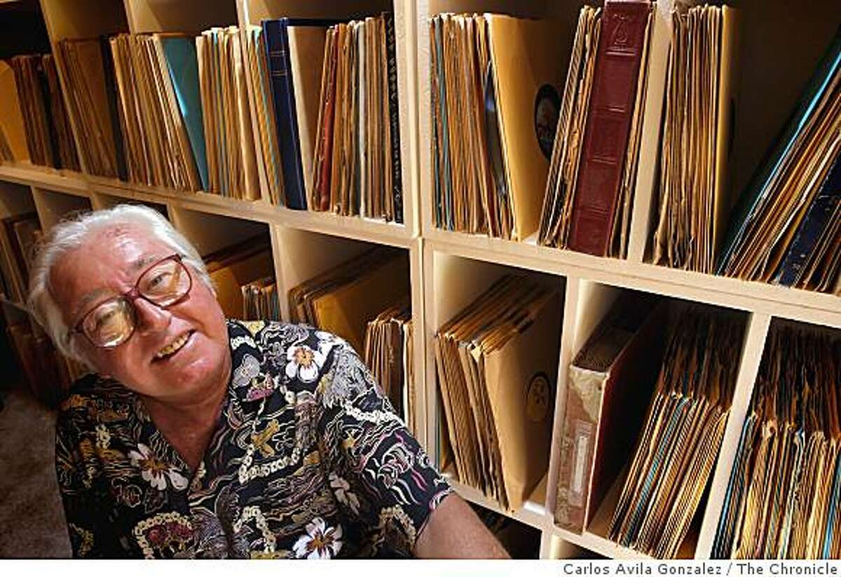 Opal Nations at his Oakland, Calif., home on Thursday, August 21, 2008, where he keeps his extensive collection of 76 RPM records. Nations, who recorded a 45 for Decca in England in the mid-60s as