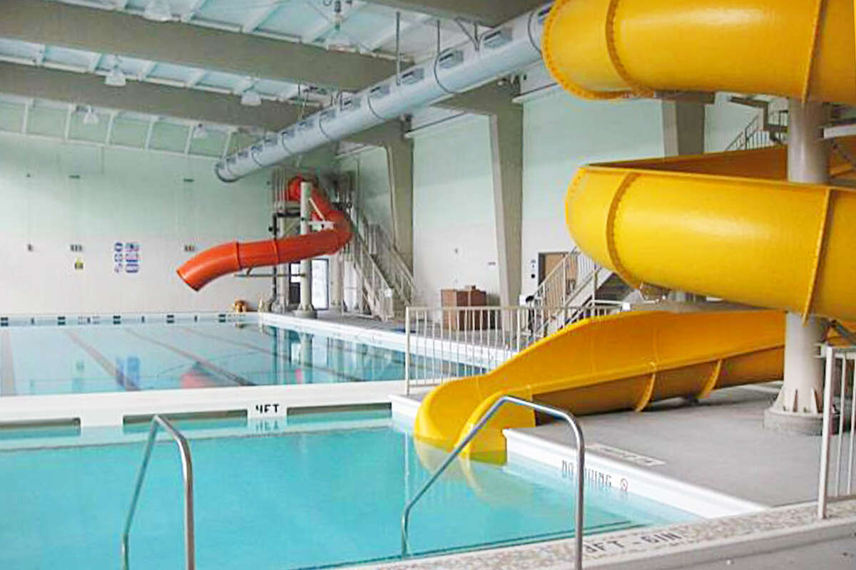 The Hamilton Recreation Center features two new waterslides.