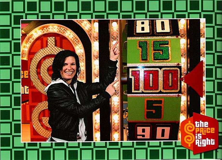 "Although she was not selected from the audience to ""come on down,"" a green screen simulates what it would have looked like if reporter Meredith May made it onto the Price Is Right game show. Photo: Courtesy, Price Is Right/CBS"
